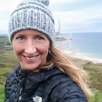 Testing The North Face jacket in Northern Ireland. ©